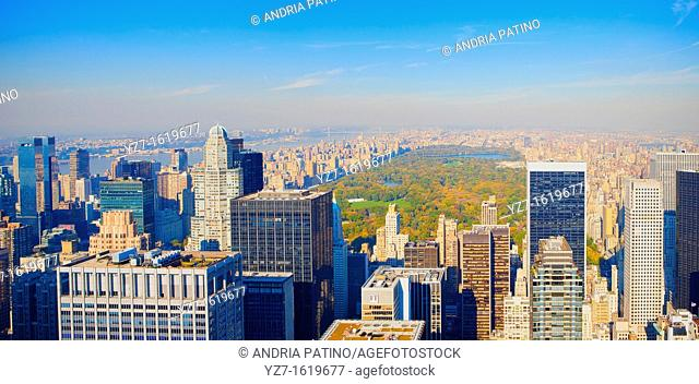 View of Central Park and Northern Manhattan from Top of the Rock