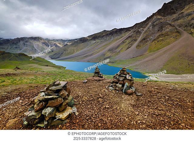 Chandra Taal or Chandra Tal lake, Spiti, Himachal Pradesh, India