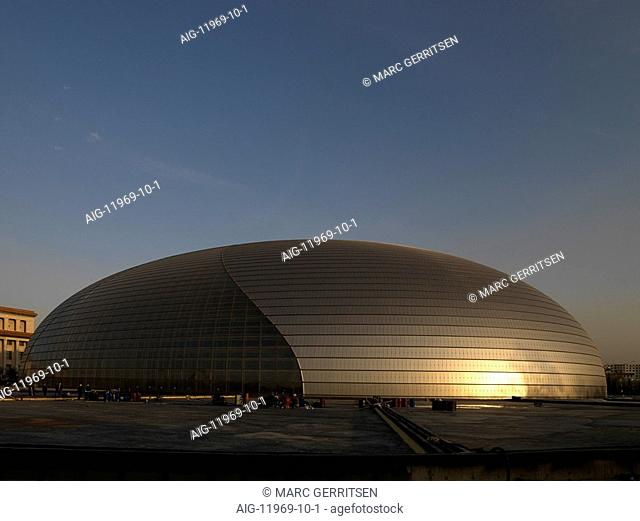 National Grand Theater, the Eggshell, Beijing, China. Architect: Paul Andreu