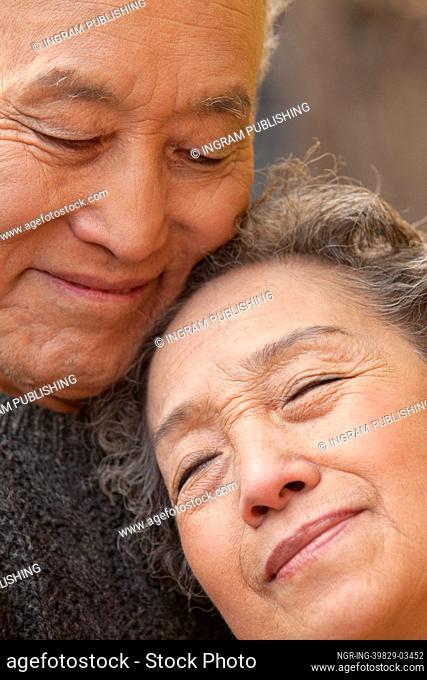 Close- up portrait of senior couple, Beijing
