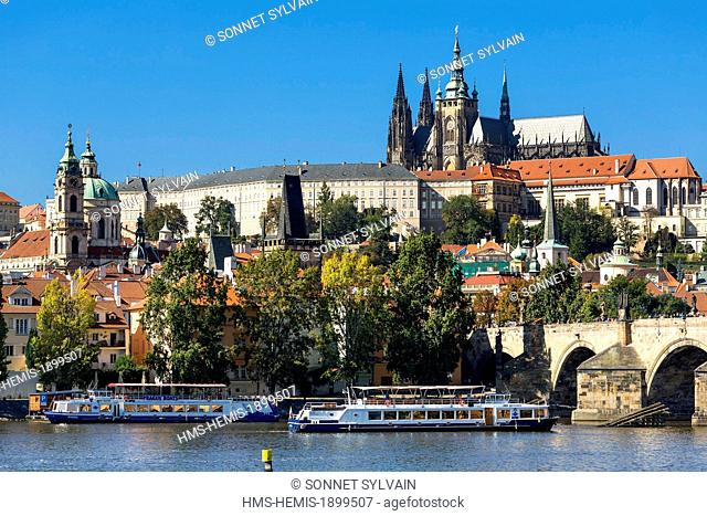 Czech Republic, Prague, historical centre listed as World Heritage by UNESCO, St Guy Cathedral and Castle of Prague