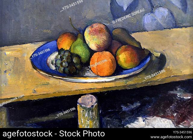 Apples, Peaches, Pears and Grapes, by Paul Cezanne (1839-1906) , State Hermitage museum, St Petersburg Russia, Europe