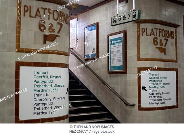 Cardiff train station, 2009. Creator: Ethel Davies