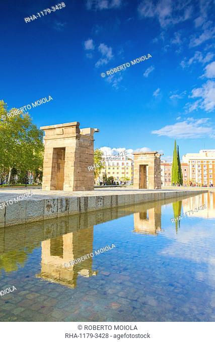 Egyptian Temple of Debod (Templo de Debod), Parque del Oeste, Madrid, Spain, Europe