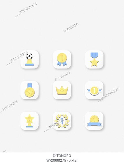 Icon set related to awards