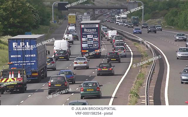busy motorway time lapse traffic
