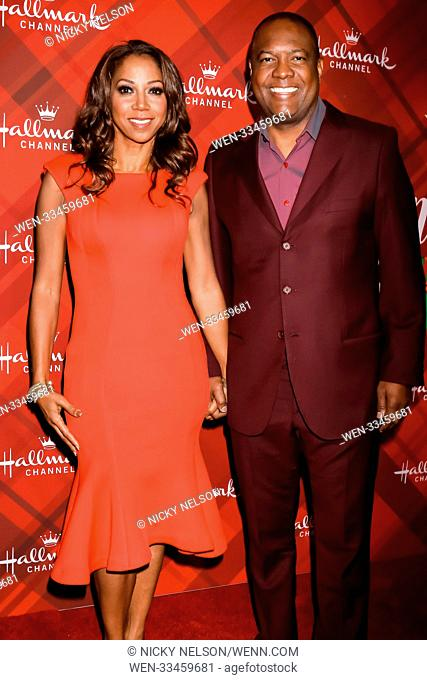 Hallmark's 'Christmas at Holly Lodge' screening at 189 The Grove Drive - Arrivals Featuring: Holly Robinson Peete, Rodney Peete Where: Los Angeles, California