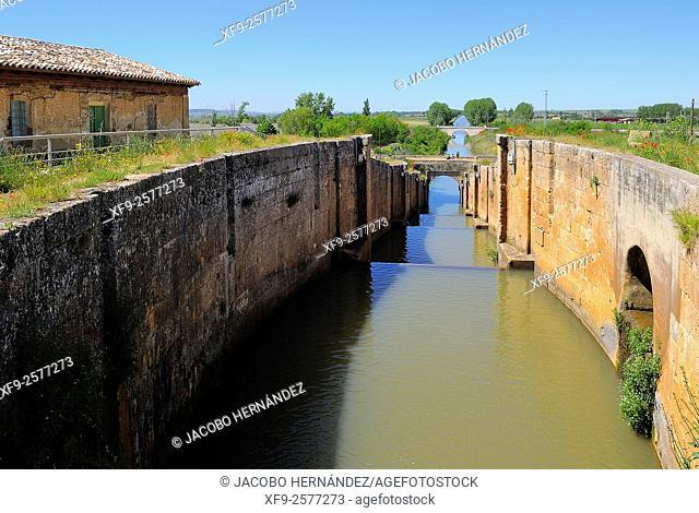 Canal de Castilla.Palencia province.Castilla y León.Spain