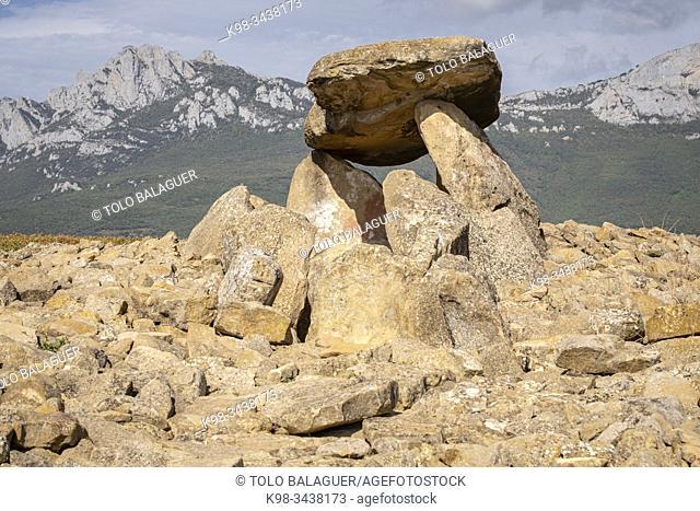 dolmen Chabola de la Hechicera, neolitíco, Elvillar, Alava, País Vasco, Spain