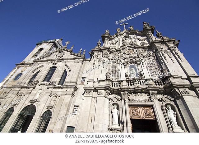 Carmo church in Oporto, Portugal