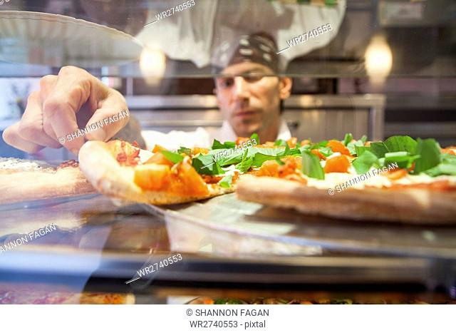 Pizza place chef