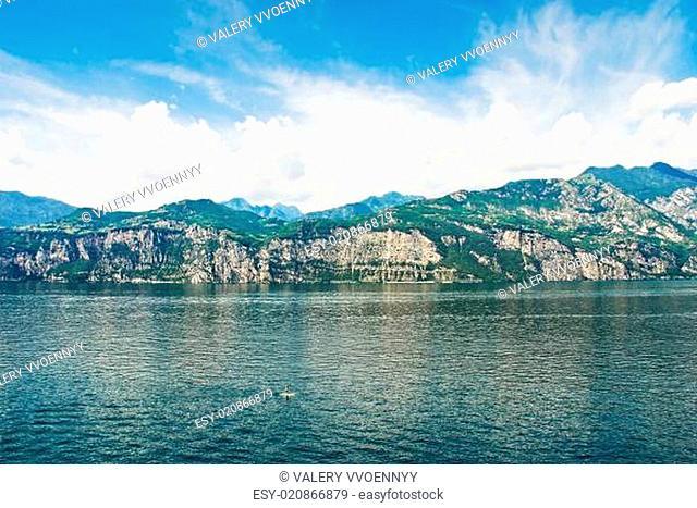 Lake Garda from Malcesine village, Italy