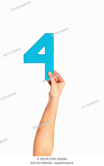 hand holding up the number four from the bottom