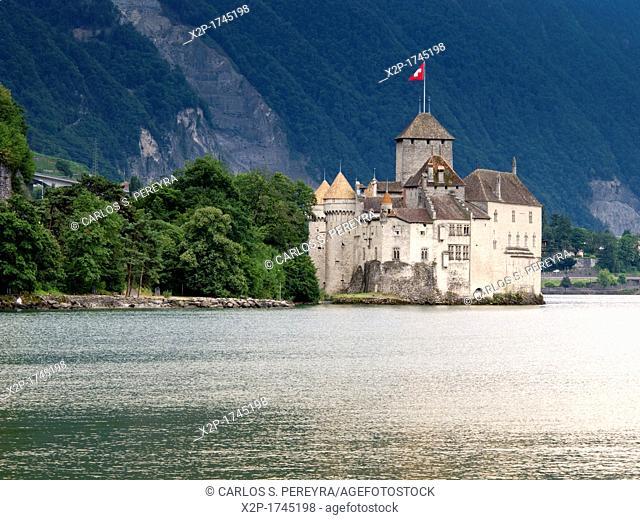 Castle Chillon at Lac Leman, Veytaux, Montreux, Switzerland