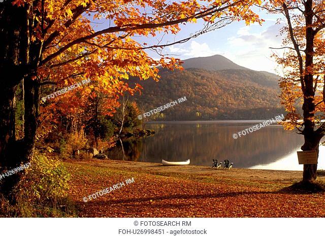 lake, Adirondacks, New York, Blue Mountain Lake, NY, Blue Mountain Lake in the autumn in the Adirondacks