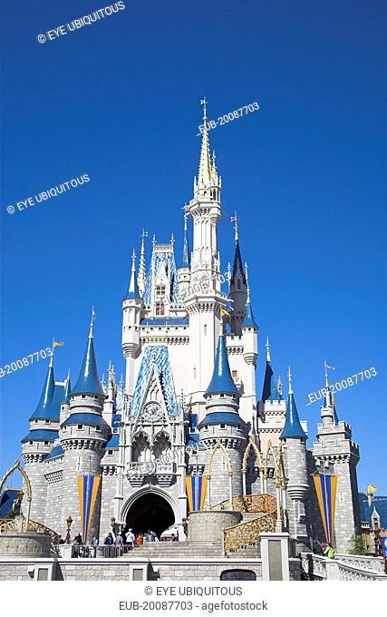 Walt Disney World Resort. Cinderella's Castle in the Magic Kingdom