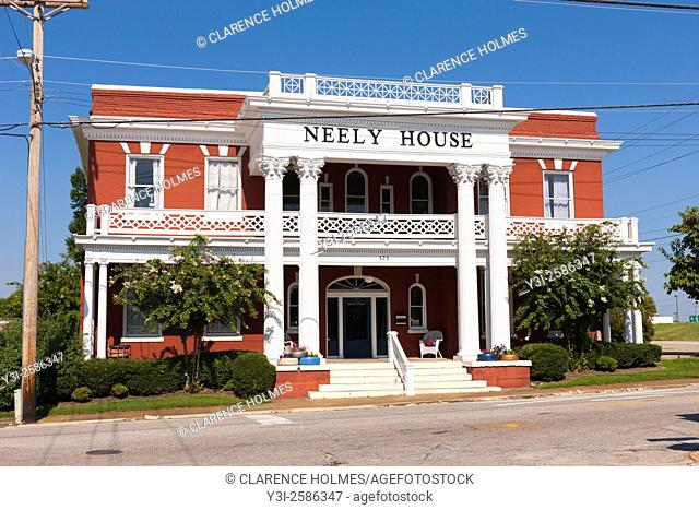 The historic Neely House, a former railroad hotel, in Jackson, Tennessee