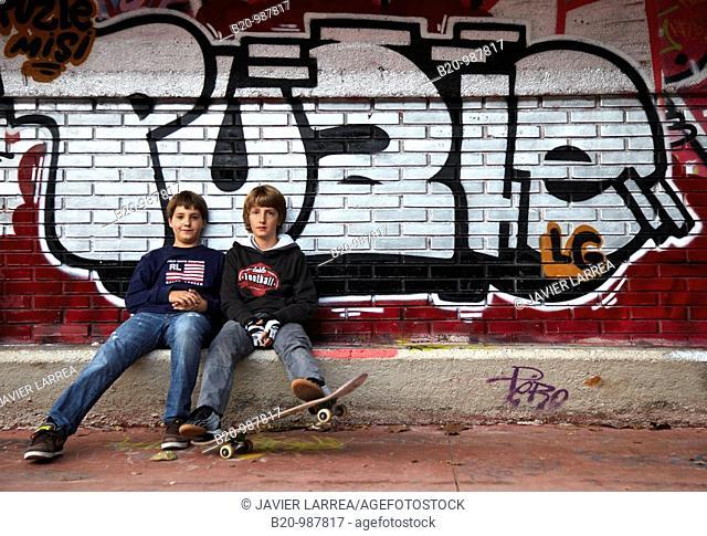 Skate park, Donostia, San Sebastian, Gipuzkoa, Euskadi, Spain