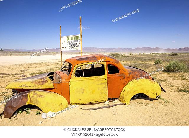 Abandoned car in Solitaire,Khomas region,Namibia,Africa