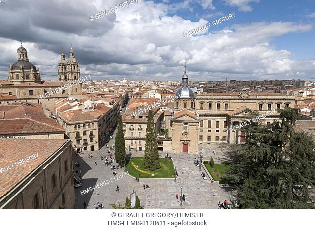Spain, Castile-Leon, Salamanca, listed as World Heritage by UNESCO, Plaza de Anaya, general view of the old town
