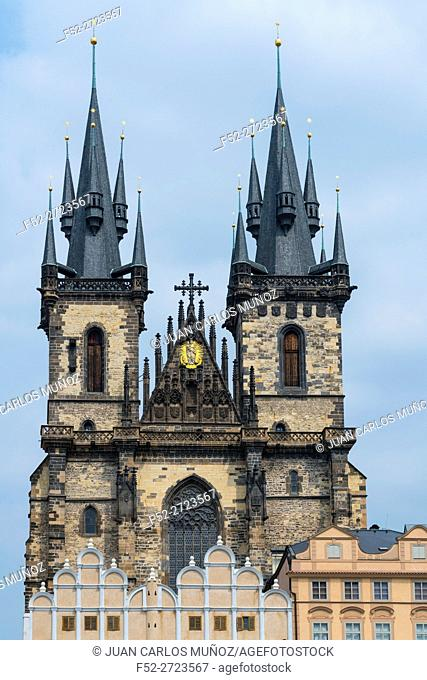 Church of Our Lady before Týn, Old Town Square, Prague, Czech Republic, Europe