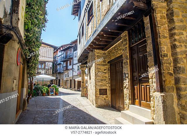 Street. Mogarraz, Sierra de Francia Nature Reserve, Salamanca province, Castilla Leon, Spain