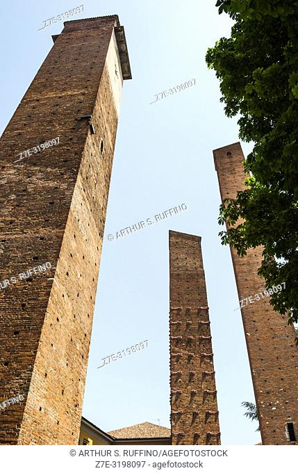 Medieval towers, Pavia, Lombardy, Italy, Europe