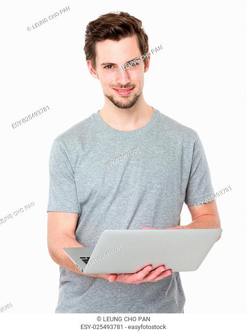 Man use of laptop