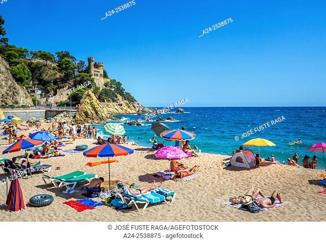 Spain, Catalonia, Costa Brava, Lloret de Mar City,