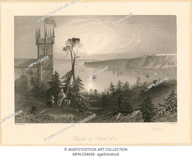 Church at Point-Levi. Bartlett, W. H. (William Henry) (1809-1854) (Artist) Willmore, James Tibbetts (1800-1863) (Engraver)