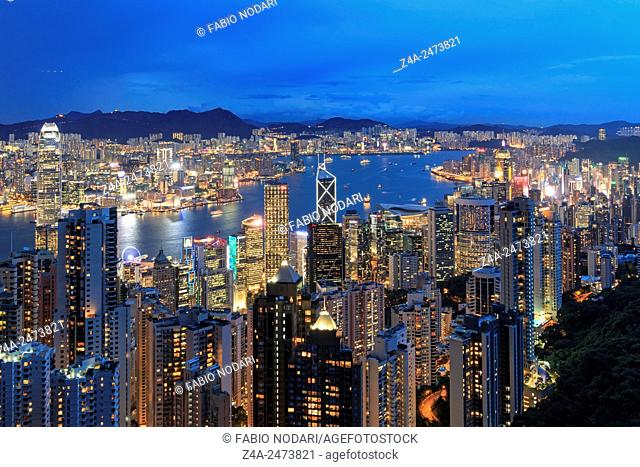 Hong Kong by night, from the Victoria Peak
