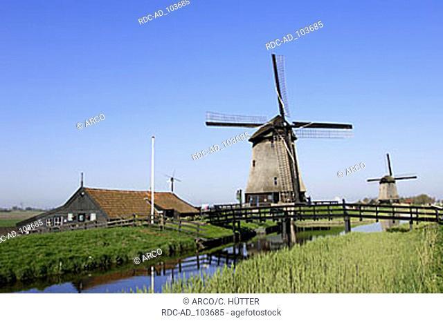 Windmills Schermerhorn Netherlands