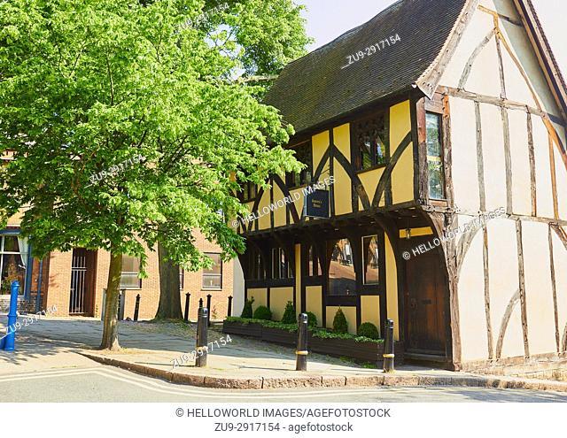 Grade II listed Severn's Building (1450), built as a merchant's house, Castle Road, Nottingham, Nottinghamshire, east Midlands, England