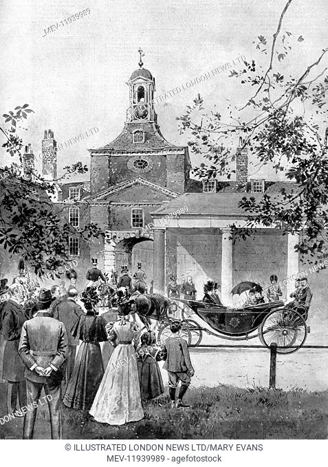 Queen Victoria in London: en route to Kensington Palace, 15th May 1899