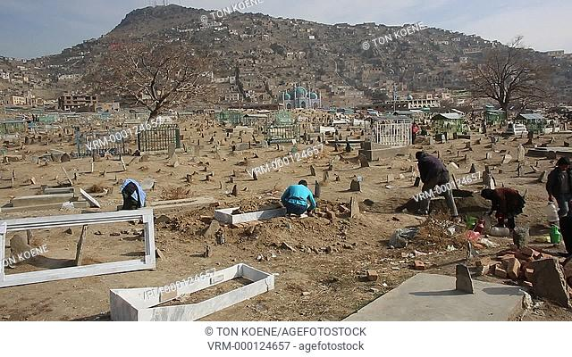 graves near the Rawza Sakhi Shah-e-Mardan mosque in Kabul, Afghanistan