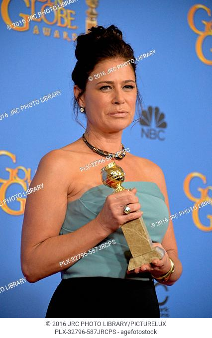 Maura Tierney at the 73rd Annual Golden Globe Awards at the Beverly Hilton Hotel. January 10, 2016 Beverly Hills, CA
