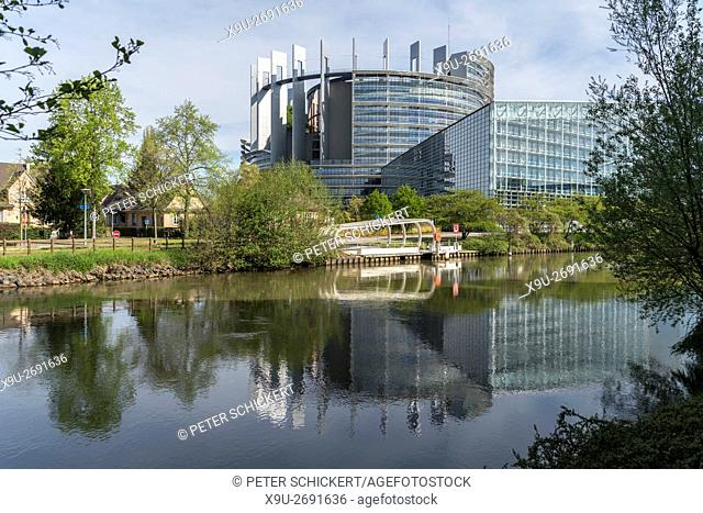 European Parliament building in Strasbourg, Alsace, France