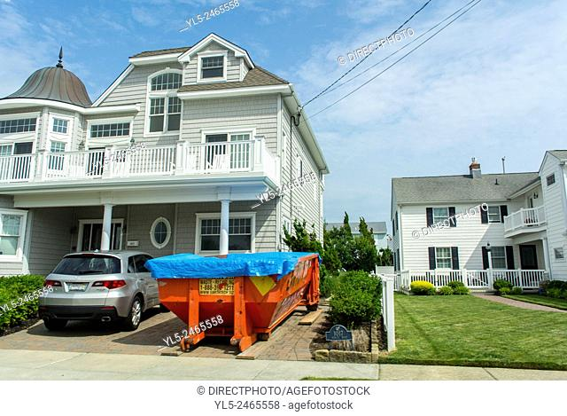 Ocean City, New Jersey, USA, Street Scenes, view of Wooden houses, Ressort Town