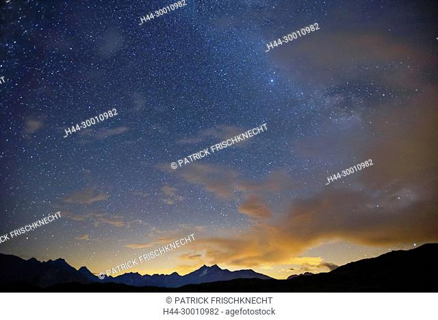 Sternenhimmel am Grimselpass, Schweiz
