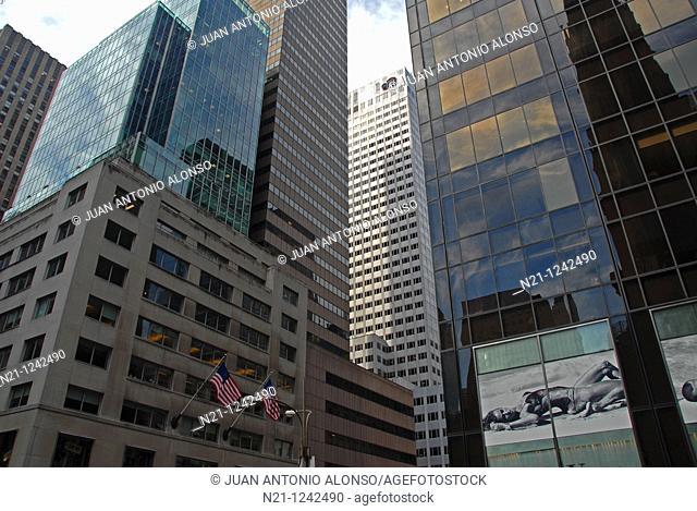 Office buildings in Midtown Manhattan.  New York, New York. USA
