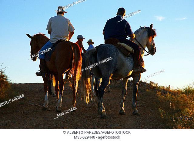 Horsemen. Manchones. Daroca. Zaragoza province. Aragon,  Spain