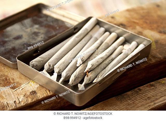Marijuana cigarettes joints