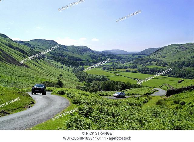 Hardknott Pass, Lake District, Cumbria, UK