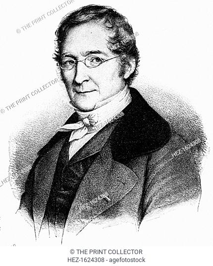 Joseph Louis Gay-Lussac, 19th century French chemist and physicist, (1900). Gay-Lussac (1778-1850) made balloon ascents to investigate terrestrial magnetism and...