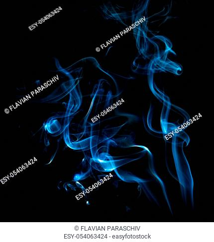 Close up of smoke on black background. Smoke stock image. Smoke cloud. Fog clouds, smoky mist and realistic cloudy effect