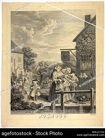 Evening, plate three from The Four Times of Day - May 1738 - Bernard Baron (French, 1696-1762) after William Hogarth (English