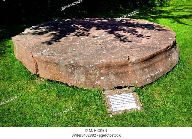 millennium sandstone pillar, United Kingdom, England, Cumbria, Crosby Ravensworth