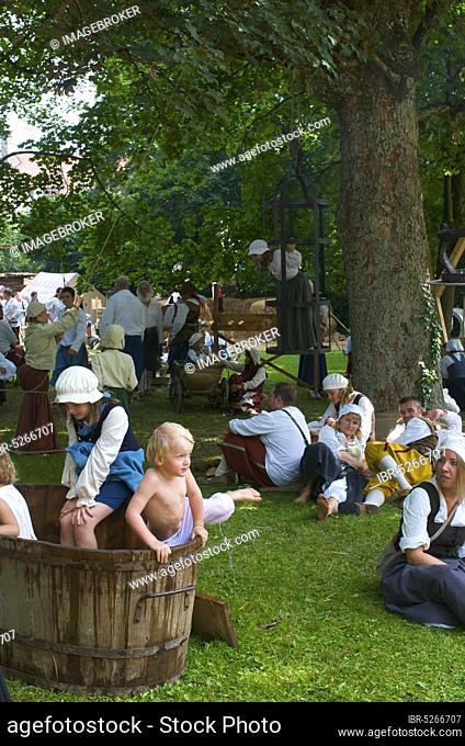 Camp life in the Wallenstein summer of 1630, Memmingen, Allgäu, Swabia, Bavaria, Wallenstein, historical week, Germany, Europe