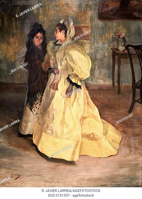 """""""Friends"""", c. 1896, Ignacio Zuloaga, National Museum of Catalan Art, Museu Nacional d Art de Catalunya, MNAC, Barcelona, Spain, Europe"