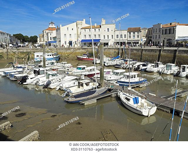 harbour, Saint-Martin-de-Re, le de Re, Charente-Maritime Department, Nouvelle Aquitaine, France
